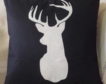 Deer Pillow Cover Deer Pillow Case Deer Head Deer Horns Deer Home Decor Deer Decor Deer Antlers Deer Antler Decor Deer Wedding Gift
