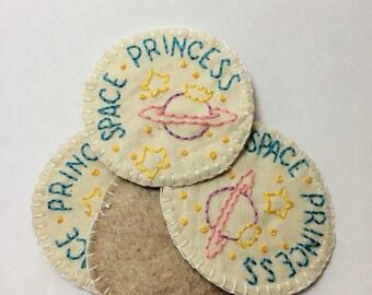 Space Princess Pastel Merit Badge Patch or Pin