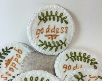 Goddess Merit Badge Patch or Pin