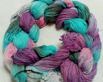 Hand dyed cotton weaving warp pre messured warp hand painted cotton yarn weaving supplies art yarn hand dyed cotton pastel colors diy