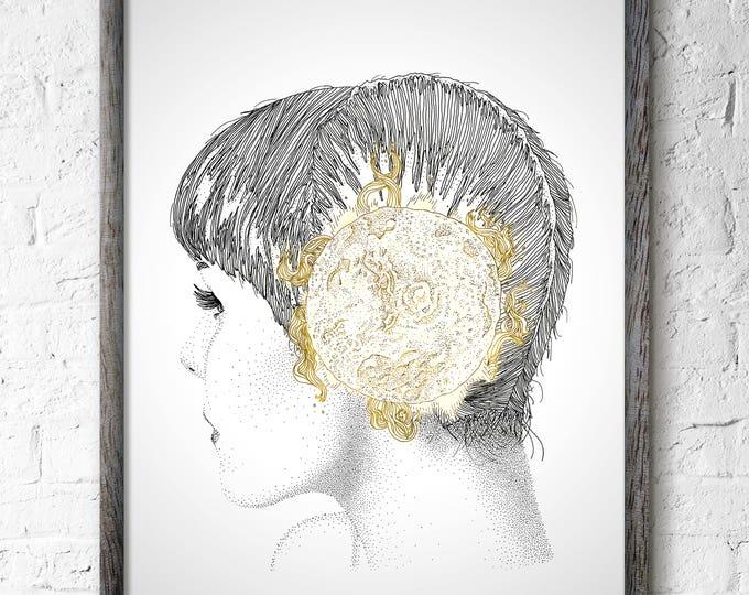 Featured listing image: Sun Wall Art Decor, Birthday Gift, Sunna Nordic Goddess Wall Art Decor, Star Wall Art, Space Wall Art Decor, Milky Way, Sol, Sun , Stars