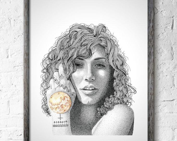 Featured listing image: Venus Aphrodite Wall Art, Venus Aphrodite Print Wall Decor, Birthday Gift, Planet Venus Art, Milky Way Wall Art, Galaxy Wall Decor, Stars
