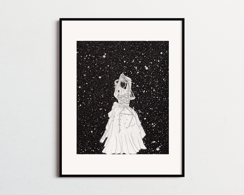 Libra sign zodiac constellation wall art decor libra september