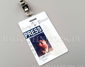 graphic relating to Clark Kent Press Pass Printable named Clark kent Etsy