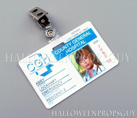 Grey/'s Anatomy Style Seattle Grace Hospital CUSTOM PVC ID Card w// Clip USA