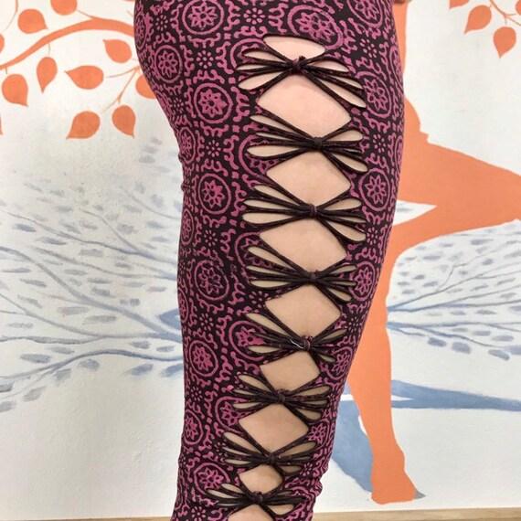 Dance Wear Bohemian Wear Elven Leggings Burning Man Leggings Fairy Leggings Flared Pants Alternative Leggings Boho Pants Hippy Pants
