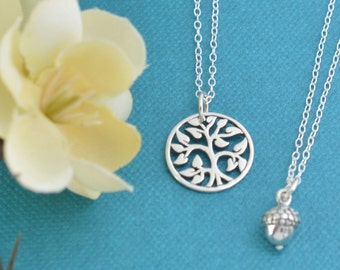 Mother Daughter Necklace Set.  Mother Daughter jewelry.  Jewelry sets. Tree of life necklaces.  Tree of Life Pendant.  Tree of Life Jewelry.