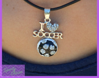 """I """"Heart"""" Soccer Necklace - Soccer Team Gift - Soccer Gift - Girls Jewelry - Coaches Gift - Team Gift"""
