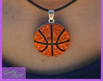 Basketball Gift Girls Basketball Team Gift - Basketball Jewelry - Pendant Basketball Necklace - Basketball Mom, Basketball Coach, Basketball