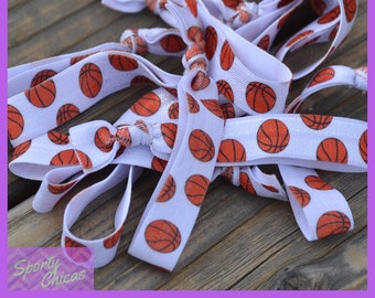 Basketball Team Gift - Basketball Gift Party Pack - Basketball Hair Ties - Basketball Player - Basketball Mom - Basketball Coach - Team Gift