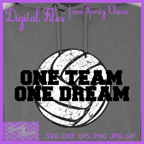 Volleyball Svg Volleyball Player Svg One Team One Dream Etsy