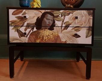 Beautiful Mid Century Remploy Drawers with Tretchikoff Chinese Girl Image