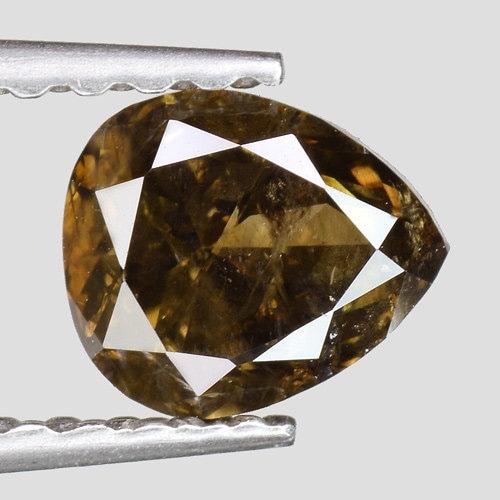 0.57cts Greenish Brown Brown Brown Pear Natural Loose Diamond