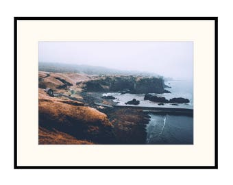 Rugged Icelandic Coastline of Hellnar on a stormy day. Coastal print, Iceland Print, travel print. Outdoors print.