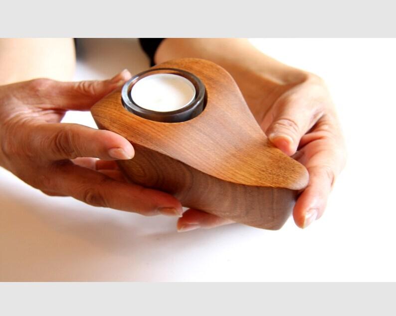 Candle holder Tea light holder Wooden candle holder image 0