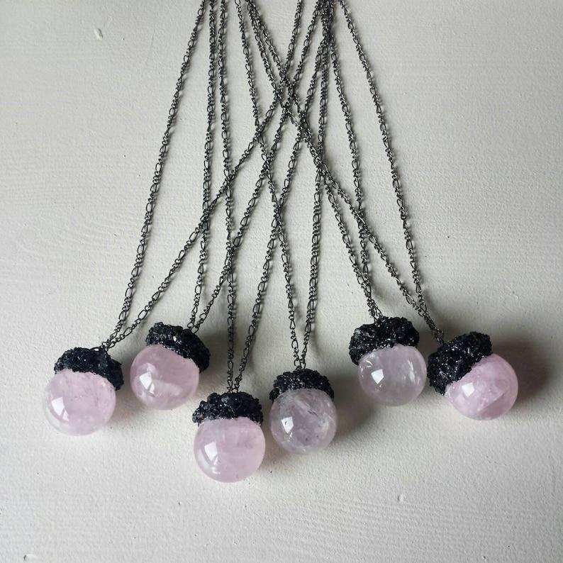 Mystical rose quartz orbs
