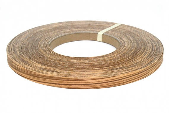 Zebra Wood Veneer Edge Banding Iron On 13 16 To 2 X20 With Hot Melt Adhesive