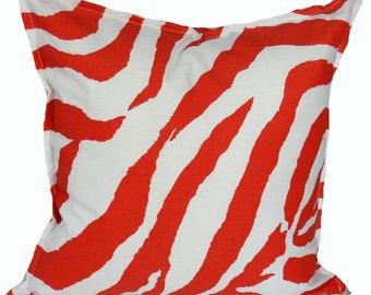 Outdoor / Indoor Orange Zebra Cushion Cover