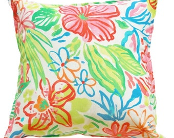 Outdoor / Indoor Watercolour FloralCushion Cover