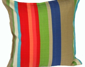 Outdoor / Indoor Park Bench Stripe Cushion Cover