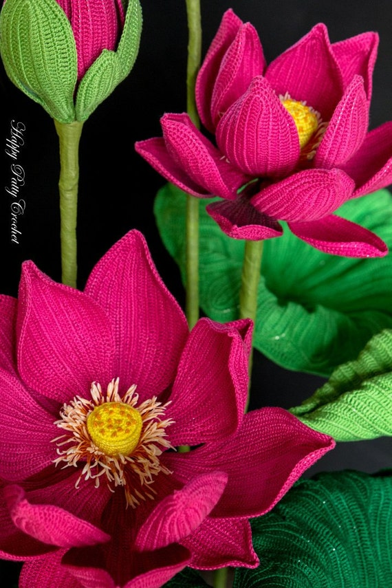 Crochet Lotus Pattern Crochet Sacred Lotus Pattern For Home Etsy