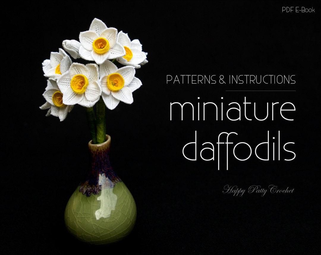 Crochet Miniature Daffodil Pattern Miniature Narcissus Etsy