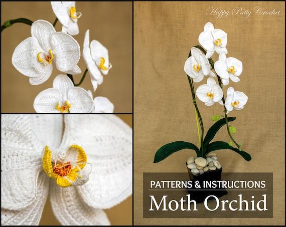 Crochet flower pattern crochet orchid pattern phal orchid ccuart Gallery