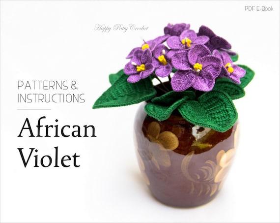 Crochet Flower Pattern Crochet African Violet Pattern Etsy