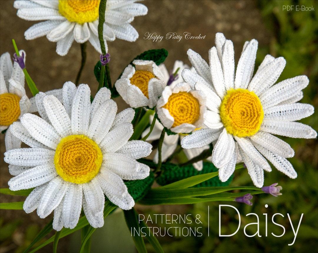 Crochet daisy flower pattern shasta daisy pattern instant etsy zoom izmirmasajfo