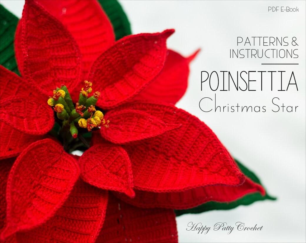 Crochet Poinsettia Pattern Crochet Flower Pattern | Etsy