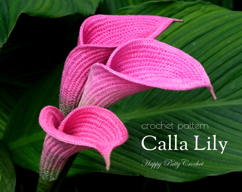 Crochet Pattern for a Calla Lily  Crochet Flower Pattern for image 0