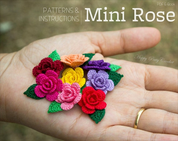 Crochet Pattern Mini Crochet Flower Pattern Small Crochet Etsy