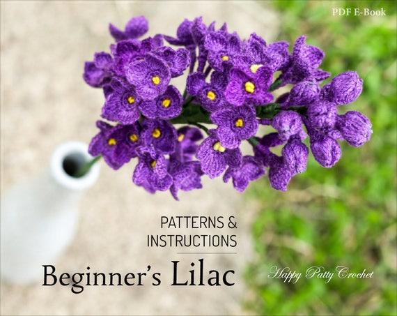 Beginners Crochet Lilac Pattern Crochet Lilac Flower Etsy