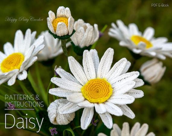 Crochet Daisy Pattern Crochet Shasta Daisy Pattern Crochet Etsy
