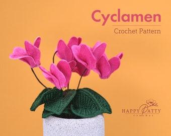 Crochet Cyclamen Flower Pattern - Crochet Pattern for Cyclamen Flower