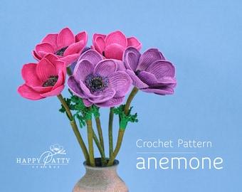 Crochet Anemone Pattern - Crochet Flower Pattern for an Anemone Flower