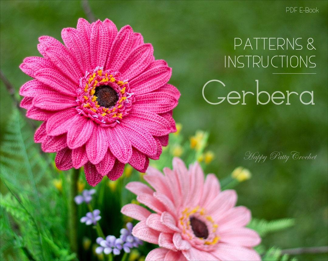 Crochet Gerbera Pattern Crochet Gerbera Daisy Flower Pattern Etsy