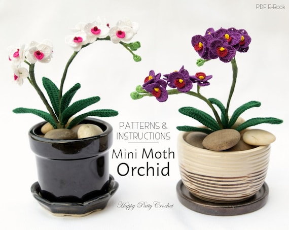 Mini crochet orchid pattern crochet flower decoration easy etsy image 0 ccuart Images