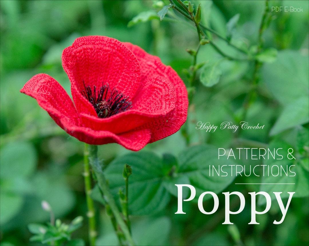 Crochet Poppy Pattern Flower