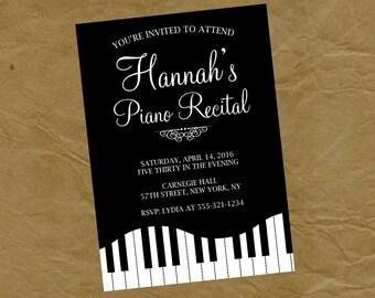 PIANO RECITAL Party Invitation