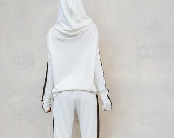 aa674c3be2b NEW Women Set   White Pants   Harem Pants   White Top   Plus Size Set   Plus  Size Top   Plus Size Pants   Leather Strap Pants    35303
