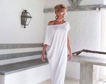 cb08ad03ef14 White Maxi Dress / Kaftan / Long White dress / Plus Size Dress / Caftan / Women  Dresses / Summer Dress / Plus Size Maxi Dress / #35022