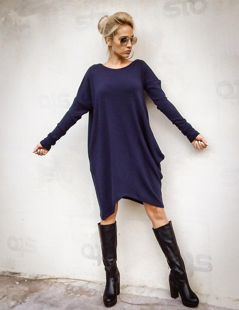 543acb583f4ec NEW Navy Blue Tunic   Women Top   Loose Tunic   Plus Size