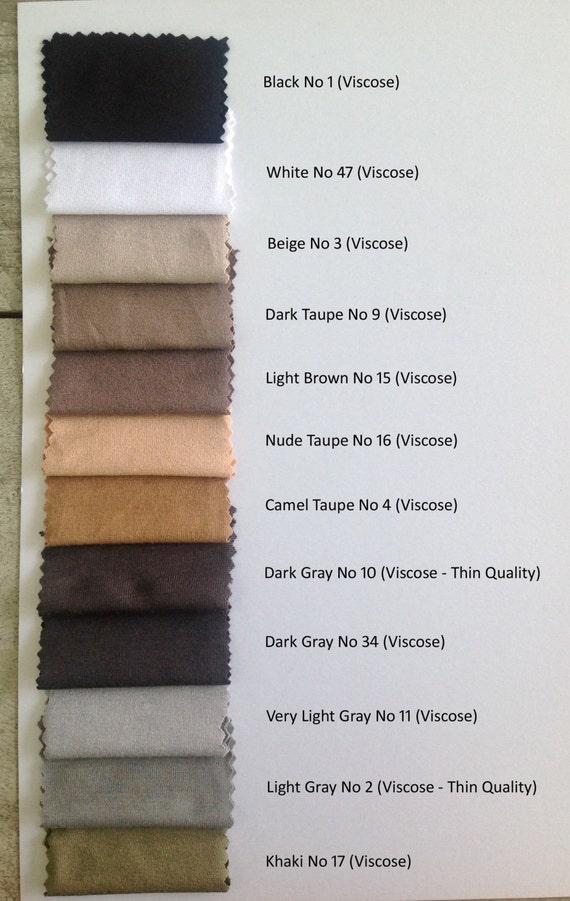 Viscose Color Chart Etsy