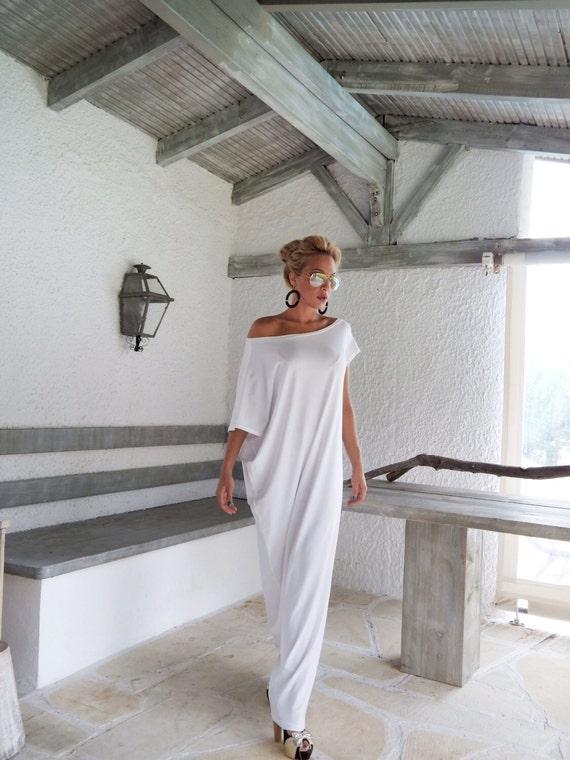 Maxi-Kleid weiß   weiß Kaftan   Kaftan   Plus Größe   Kaftan     Etsy 8278f2d249