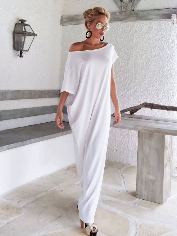 White Maxi Dress / Kaftan / Long White dress / Plus Size Dress / Caftan /  Women Dresses / Summer Dress / Plus Size Maxi Dress / #35022