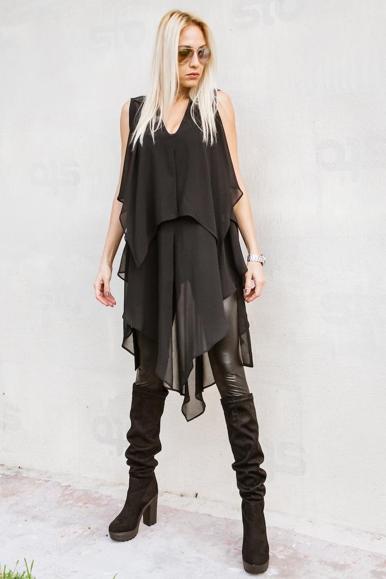 2a24258df428e NEW Women Top   Plus Size Tunic   Black Top   Winter Tunic
