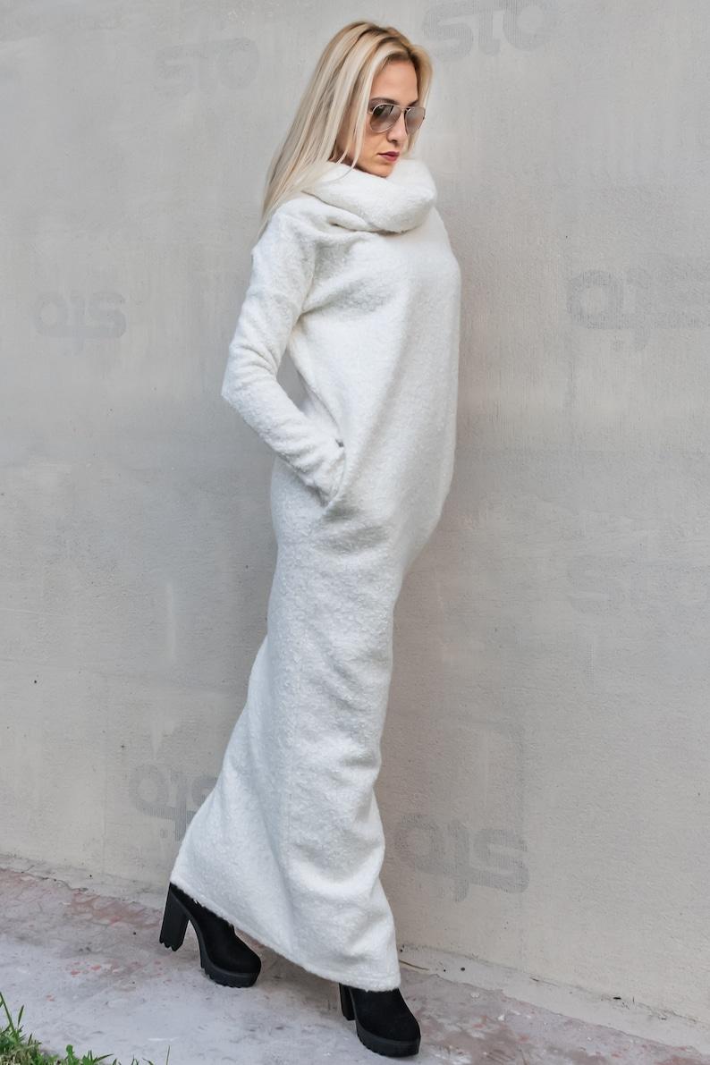 eebc508d97a3 NEW Winter wool Dress / Plus Size Dress / White Sweater Dress | Etsy