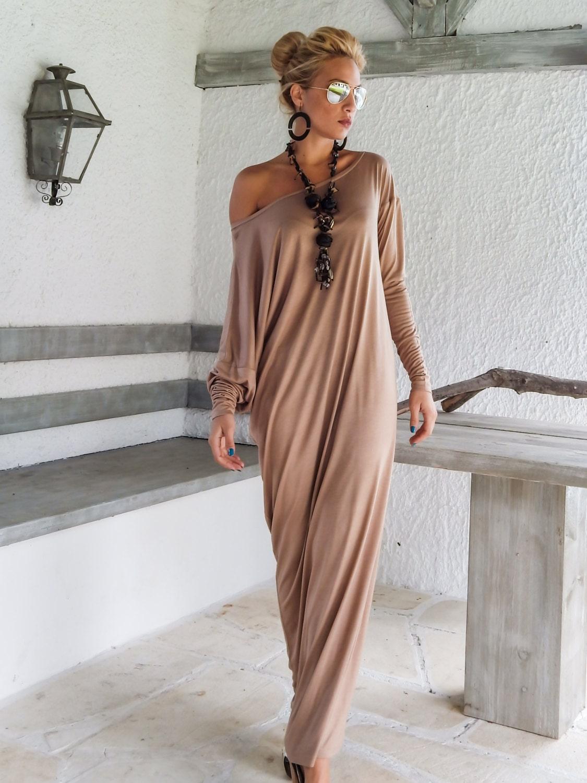 af79a13b15749 Maxi Dress   Kaftan   Taupe Maxi Dress   Plus Size Dress