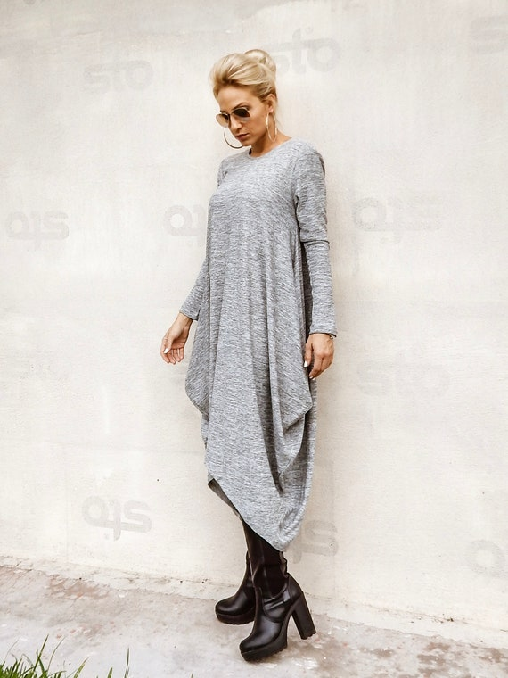 NEW Winter Knit Dress / Sweaterdress / Plus Size Dress / Warm Dress / Plus  Size Maxi Dress / Long Dress / Dress With sleeves / #35286